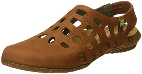 El Naturalista S.A N5060 Pleasant Wakataua, Damen Closed-toe Sandalen, Braun (Wood), 39 EU