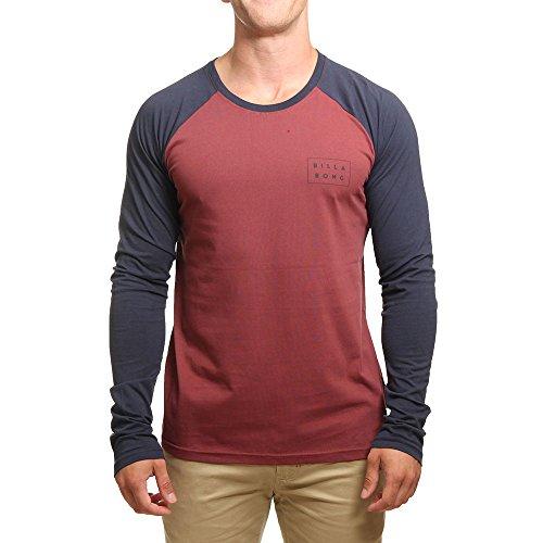 G.S.M. Europe - Billabong Die Cut Tee LS Shirt e Camicia, Uomo, Die Cut Tee LS, Fig, 34