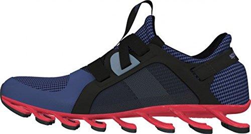 adidas Springblade Nanaya, Zapatillas de Tenis Mujer, Negro/Azul/Rojo (Negbas/Azupri/Rojimp), 36 2/3