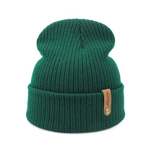 XATAKJJ Mujeres Hombres Sombrero de Invierno de Punto Skuilles Gorros para Mujeres Sombreros Pasamontañas Unisex Gorra de Invierno Hombres Marca Sombrero al por Mayor