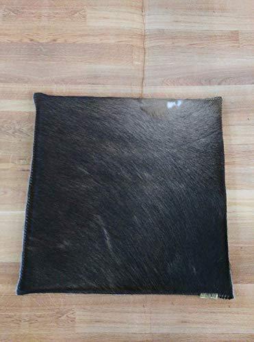 Zerimar Cojin de Piel de Vaca Premium   Medidas: 35x35 cm   Cojin de Piel   Cojines con Relleno Incluido   Cojines Decorativos