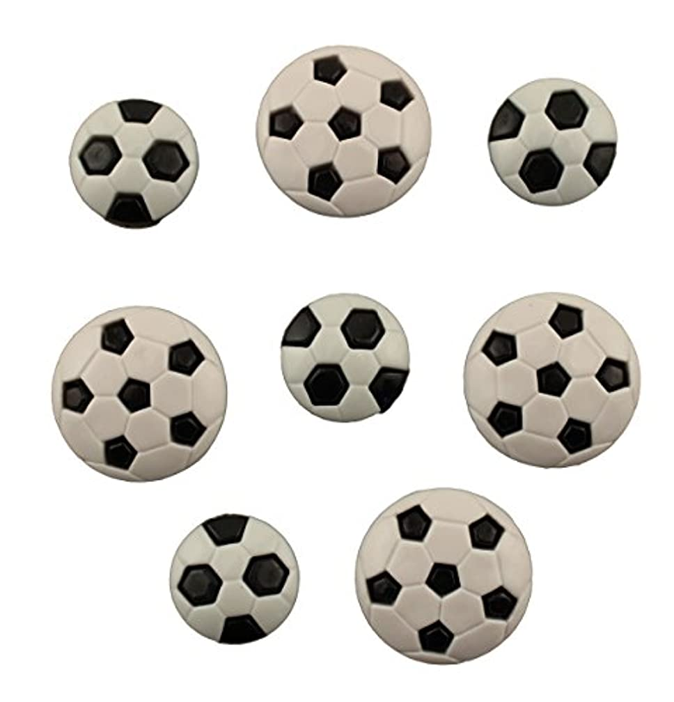 BUTTONS GALORE BUTTON THEME PACK - SOCCER BALLS