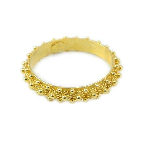 Anello in argento dorato 925 fede filigrana tipo sarda lavorazione nido ape 1 fila (16)