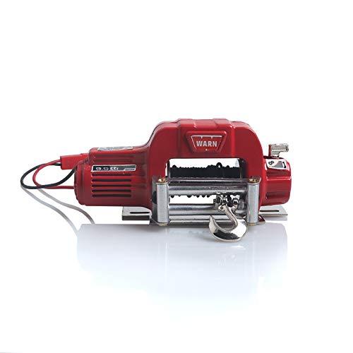 Amyove Automatische Seilwinde Drahtlose Fernbedienung Empfänger für 1/10 RC Crawler Auto Axial SCX10 TRAXXAS TRX4 D90 TF2 Tamiya CC01 Elektrische Winde rot