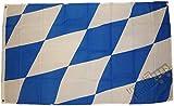 Top Qualität - Flagge BAYERN MIT GROßEN RAUTEN Fahne, 250 x 150 cm, EXTREM REIßFEST, Keine BILLIG-CHINAWARE, Stoffgewicht ca. 100 g/m², sehr robust, extra starke Messing-Ösen - mehrfach...