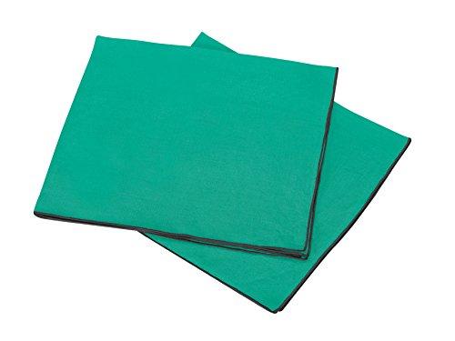 BLANC CERISE Les 2 Serviettes de Table en 100% Lin lavé, Unies avec Bourdon de Couleur 45 * 45