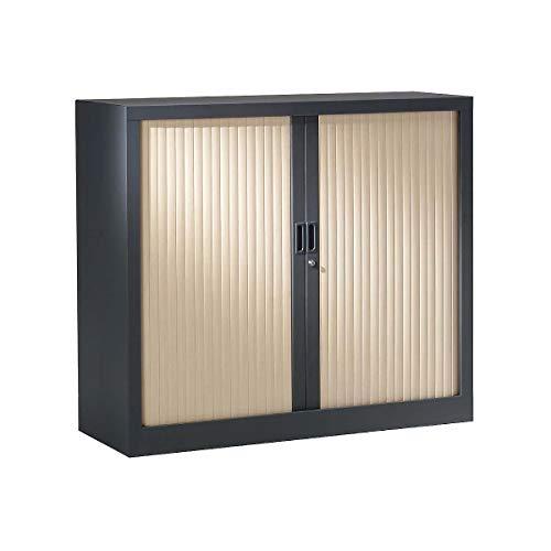 Armoire à rideaux ignifuge M1 | Anthracite | Erable | HxLxP 1000 x 1000 x 430 | Pierre Henry -