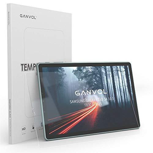 Ganvol Panzerglas Schutzfolie für Samsung Tab S4 10,5/2018 Samsung T830 Galaxy Tab S4 Wi-Fi / T835 Galaxy Tab S4 LTE/Galaxy Tab S4 25,7 cm (10,5 Zoll) Tablet-PC