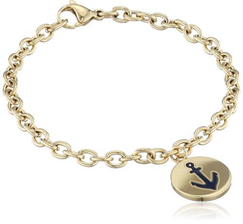 Tommy Hilfiger Damen-Armband Edelstahl teilvergoldet 18 cm - 2700930