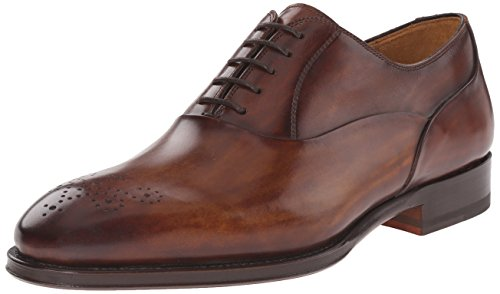 Magnanni Men's Gabino Oxford, Cognac, 9.5 M US
