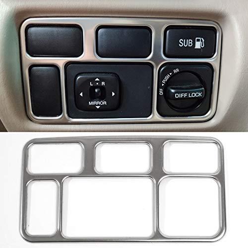 Wishful Mirror Head Light Lámpara Control Interruptor Interior Cubierta Interior Ajuste Ajuste para Toyota Land Cruiser FJ100 J100 LC100 LC105 Lexus LX470