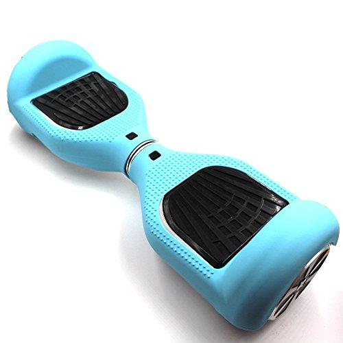 WheelElite, protezione in silicone antigraffio per un monopattino e hoverboard di 16,5 cm a due ruote ad autobilancianti, Baby Blue