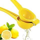 Premium Quality Metal Lemon Squeezer, Lime Juice Press, Manual Press Citrus Juicer For Squeeze The Freshest Juice - Yellow