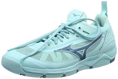 Mizuno Women's Low-Top Sneakers, Turquoise Asplash Bsapphire Asplas 001, Womens 8
