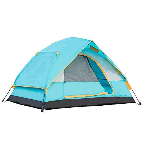 Outdoor Zelt Camping doppelt regendicht und atmungsaktiv Zelt 2-4 Personen, 215 × 215 × 140 cm, blau