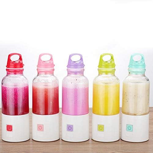 Exprimidor Juicer de la fruta impermeable recargable mini exprimidor eléctrico Frutas y Verduras Stir portátiles Exprimidor del jugo de taza de jugo (Color : Green) Purple