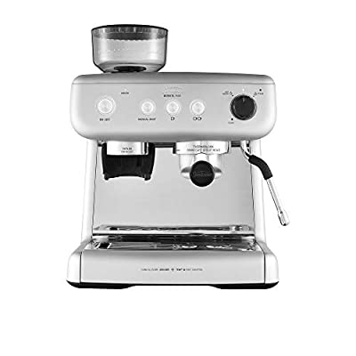 Sunbeam EM5300S Barista Max Coffee Machine   Automatic Espresso, Latte & Cappuccino Coffee Maker with Integrated Bean Grinder & Steam Milk Frother   15 Bar Italian Pump   Silver