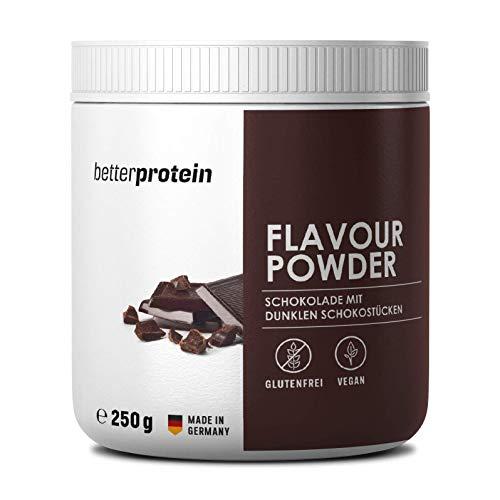 Geschmackspulver Schokolade mit echten dunklen Schokostücken | vegan | zum verfeinern und zum backen geeignet | kalorienreduziertes Aroma | Flavour Powder Zero 250g | better protein