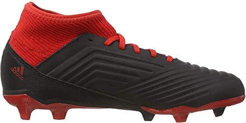 adidas Unisex-Kinder Predator 18.3 FG Fußballschuhe, Schwarz Negbás Ftwbla Rojo 001, 36 2/3 EU