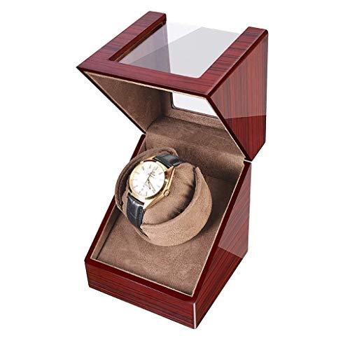 LQH Reloj de la casa Winders Single Automatic Watch Winder Caja 5 Modos, Piano Pintura Negra Rojo Red Gloss DE Almacenamiento DE Mensa DE Mensa DE Almacenamiento Reloj DE Reloj