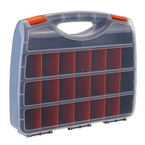 Funien Caixa de armazenamento de peças de plástico Compartimentos múltiplos Slot Caixa de ferragens Organizador Ferramentas de gabinete de artesanato Componentes Acessórios para recipientes Estojo de