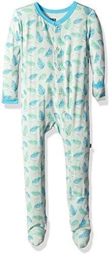 Price comparison product image Kickee Pants Baby Boys' Print Footie Prd-kpf175-pfd,  Palm Frond,  6-9 Months