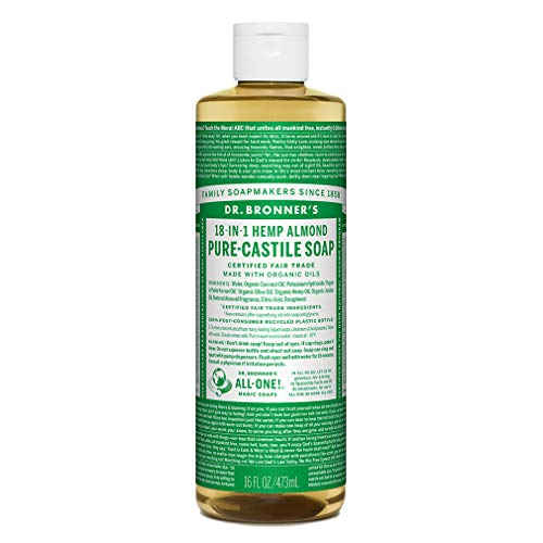 DR BRONNERS Organic Almond Castile Liquid Soap, 473ml