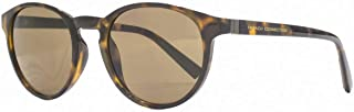 French Connection Mens Preppy Round Sunglasses - Black/Brown