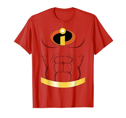 Disney Pixar Incredibles Suit With Muscles Halloween Costume T-Shirt