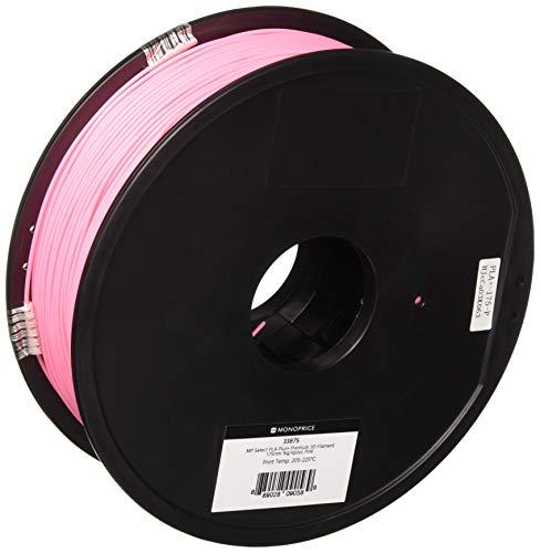 Monoprice, filamento 3D Premium in PLA Plus+ - Rosa - Bobina da 1 kg, spessore 1,75 mm   Biodegradabile   Stessa resistenza dell'ABS standard   Per tutte le stampanti compatibili con PLA