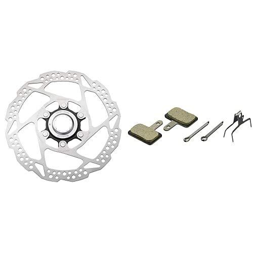 Shimano SMRT54S Disco Suelto Freno, Unisex Adulto, Negro, 160 mm + - Pastillas Freno Disco Resina, 1 paquete con 2 unidades