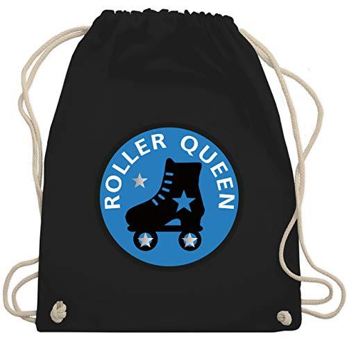 Shirtracer Vintage - Roller Queen Rollschuh - Unisize - Schwarz - turnbeutel rollschuh - WM110 - Turnbeutel und Stoffbeutel aus Baumwolle