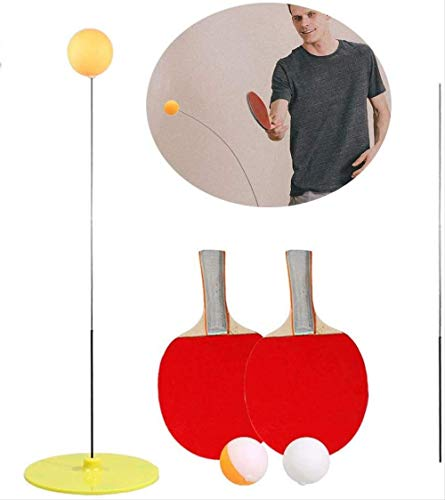 New JKADD Single Table Tennis Trainer Training Equipment Kit,ping Pong Balls Paddles for Beginners C...