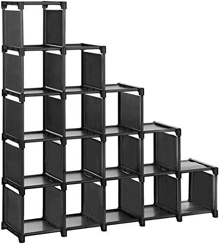 Ranuras de zapato ajustables Organizador Bastidore Estante de zapatos de 16 cubo DIY estantes modulares de almacenamiento de estantes de juguete de juguete de juguete, gabinete de exhibición y armario