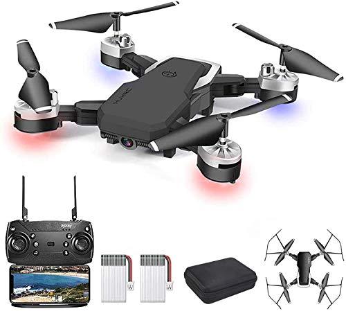 3T6B Drone con cámara HD 1080P WiFi FPV Video en Vivo con Control Remoto móvil de 2.4Ghz, 3D VR, Modo sin Cabeza, retención de altitud, Modos de Vuelo de 3 velocidades para Principiantes y niños