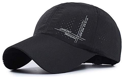 XsFirecow ランニング キャップ メッシュ 帽子 軽量 スポーツ テニス マラソン ランニング ジョギング ウォーキング (メッシュブラック)