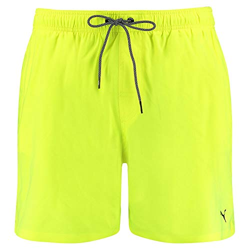 PUMA Swim Mid-Length Men's Swimming Shorts Trunks, Giallo Fluo, L Uomo