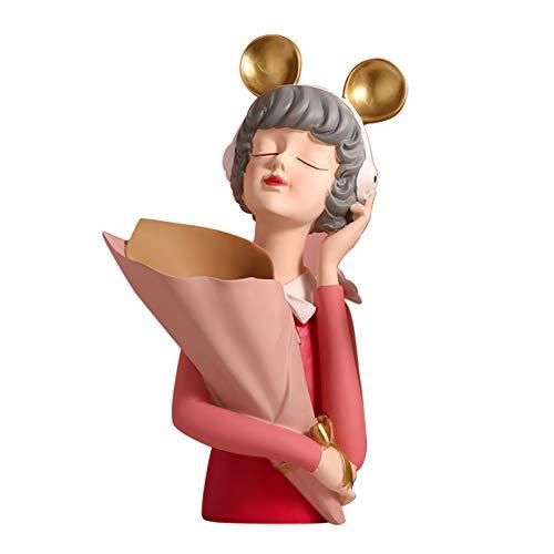 laoonl Bonita burbuja niña adorno de resina esculturas manualidades regalo hogar jardín escritorio decoración