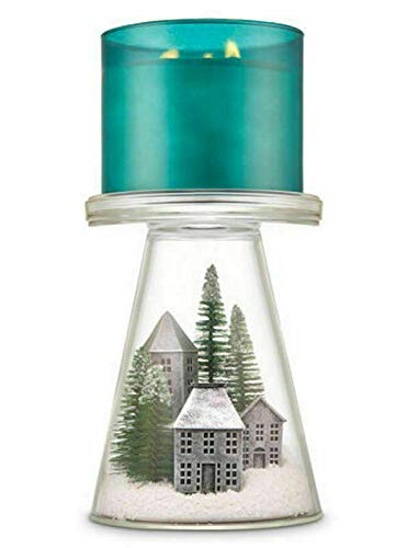 Bath and Body Works White Barn Nordic Villiage Candle Pedestal Holder Holiday 2019 Candle Sold Separate