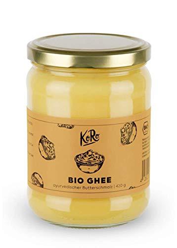 KoRo - Ghee bio 420 g - burro chiarificato, burro sciolto, senza lattosio, tipico della cucina...