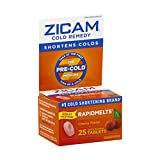 Zicam Cold Remedy RapidMelts, Cherry, Quick Dissolve Tablets, 25 Count (Pack of 1)
