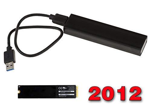 Kalea Informatique Gehäuse für SSD Mac Air 2012 auf USB3 (USB 3.0 SuperSpeed) - Für SSD von 2012 MAC 8+18 Pin (A1466 A1465 MD223 MD224 MD231 MD232)