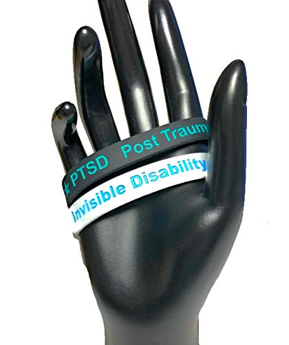 Best Price 2 Pack Invisible Disability and PTSD Post Traumatic Stress Disorder Awareness Bracelets U...