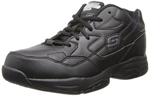 Skechers Women's Work Relaxed Fit: Felton - Albie SR Shoe, Black, 7.5 M US