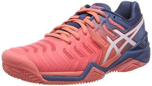 Asics Gel-Resolution 7 Clay, Zapatillas de Tenis Mujer, Rojo (Papaya/White 701), 40 EU