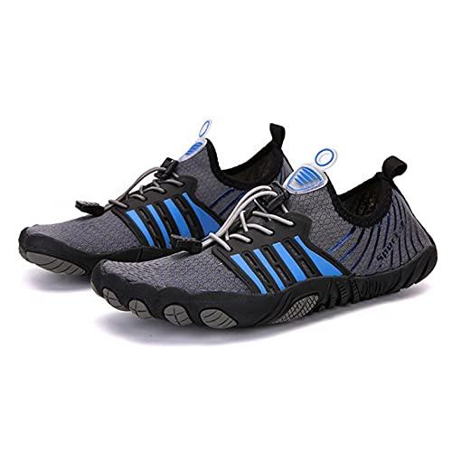 ZHJIUXING ST Hombre Mujer Zapatos de Agua Zapatos de Playa Secado Rápido Descalza Escarpines de Verano Deportes Acuáticos Swim Beach Surf Yoga, Grey, 35 EU