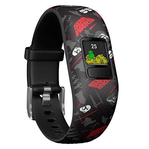 Garmin vívofit jr. 2 digitale, wasserdichte Action Watch im Star Wars – First Order Design für Kinder ab 4 Jahren, mit spannender Abenteuer-App, Schrittzähler, schwarz, Batterielaufzeit bis zu 1 Jahr