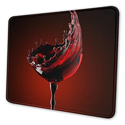 Vdcucc Beauty Red Wine Glass 02 Mouse Pad Gaming Funny Mouse Mat Office Accessories Desk Decor Mouse Pads for Computers 10 X 12 Inch
