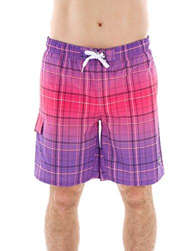 CMP Boardshorts Badehose Swimwear LILA PINK KARIERT Gummibund LANG 3R50967 (50)