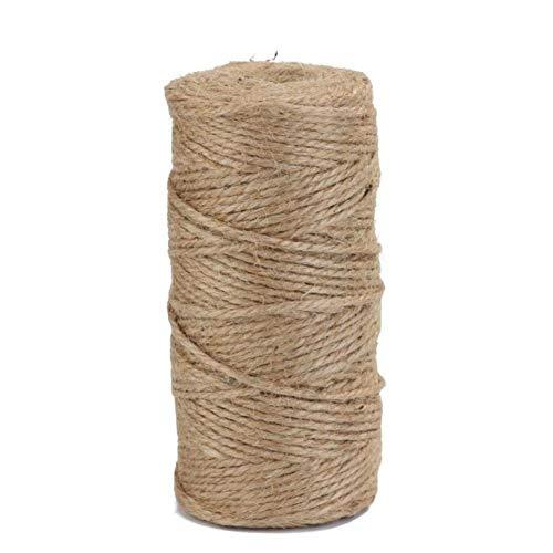 Byfri Retro Natural del cáñamo Cuerda de Yute Cordeles arpillera Embalaje Cuerdas de Rosca DIY Hecho a Mano Que ata el Hilo Macrame cordón Cuerda